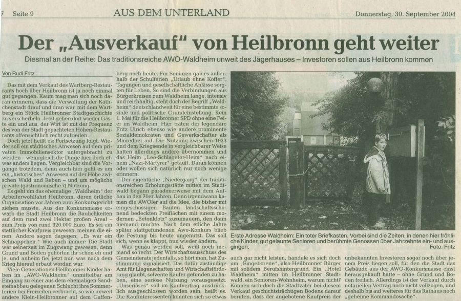 Heilbronner Stimme WaldHaus