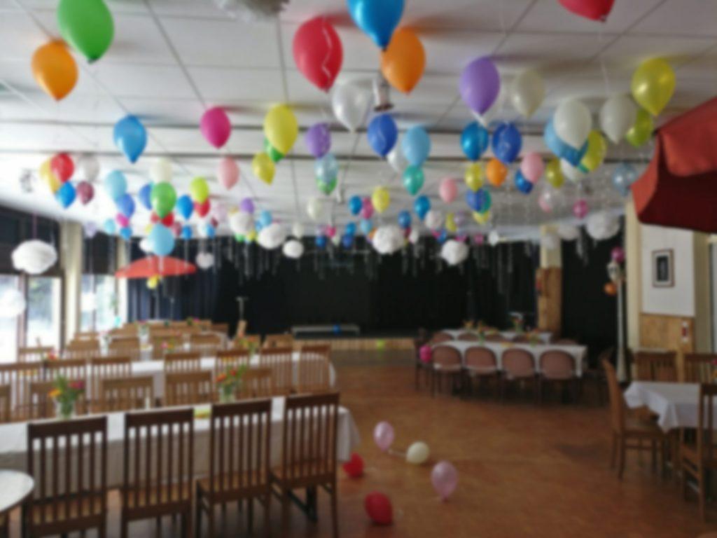 WaldHaus-Saal dekoriert